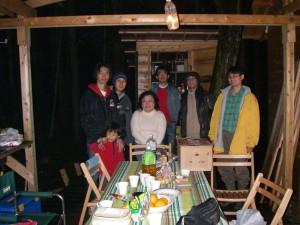 ガンコ山のツリーハウスオーナーと交流
