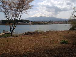 無人島から富士山